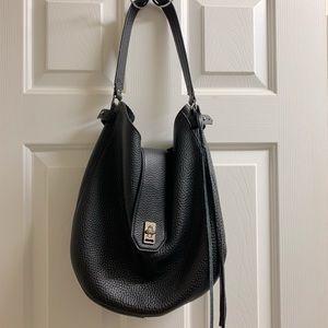 Rebecca Minkoff black leather hobo